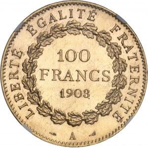 IIIe République (1870-1940). 100 francs Génie, aspect Flan bruni (PROOFLIKE) 1903, A, Paris.