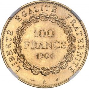 IIIe République (1870-1940). 100 francs Génie 1904, A, Paris.