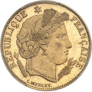 IIIe République (1870-1940). 5 francs Cérès Flan bruni (PROOF) 1889, A, Paris.