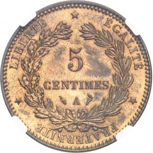 IIIe République (1870-1940). 5 centimes Cérès 1896 torche, A, Paris.