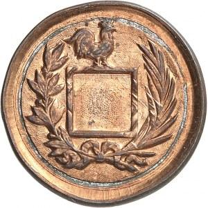 IIIe République (1870-1940). Épreuve hybride de 10 centimes trou carré et [1] centime trou rond, projet de T. Michelin ND (1892), Paris.