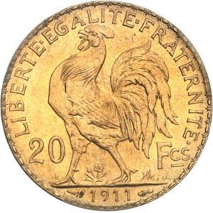 IIIe République (1870-1940). 20 francs Marianne 1911, Paris.