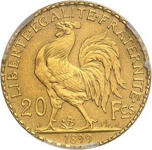 IIIe République (1870-1940). Essai-piéfort de 20 francs Marianne, flan mat 1899, Paris.