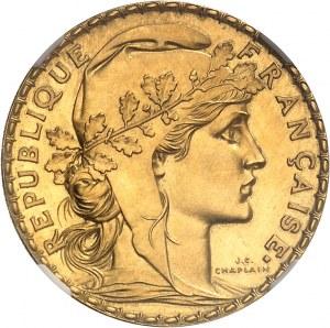 IIIe République (1870-1940). Essai-piéfort de 20 francs Marianne, Flan bruni (PROOF) 1899, Paris.