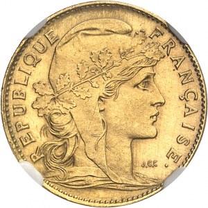 IIIe République (1870-1940). Essai-piéfort de 10 francs Marianne, Flan bruni (PROOF) 1899, Paris.