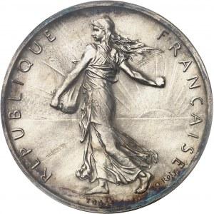 IIIe République (1870-1940). Essai de 5 francs Semeuse par Roty, sur flan normal 1898, Paris.