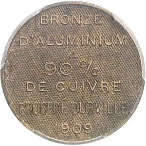 IIIe République (1870-1940). Essai du procédé Durville, sans valeur faciale 1909, Paris.