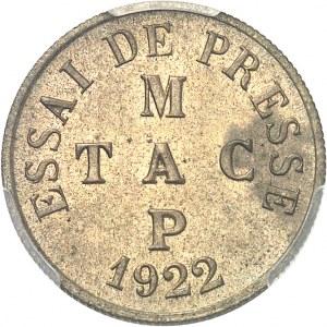 IIIe République (1870-1940). Essai de presse au module de 50 centimes 1922, Poissy.