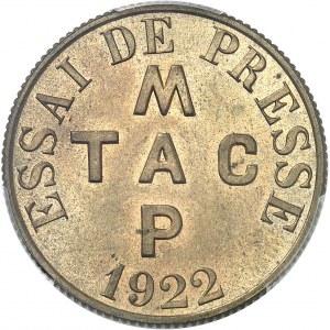 IIIe République (1870-1940). Essai de presse au module de 2 francs 1922, Poissy.