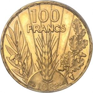 IIIe République (1870-1940). Essai de 100 francs Bazor, Flan bruni (PROOF) 1929, Paris.