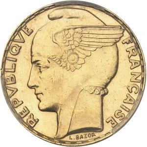 IIIe République (1870-1940). 100 francs Bazor, aspect Flan bruni (Prooflike) 1933, Paris.