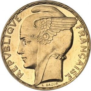 IIIe République (1870-1940). 100 francs Bazor, aspect Flan bruni (Prooflike) 1935, Paris.