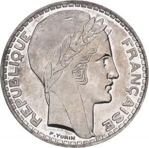 IIIe République (1870-1940). Essai-piéfort de 20 francs Turin 1929, Paris.