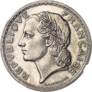 IIIe République (1870-1940). 5 francs Lavrillier en nickel 1939, Paris.