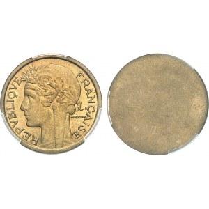 IIIe République (1870-1940). Paire d'épreuves unifaces, avers et revers, de 1 franc Morlon 1932, Paris.
