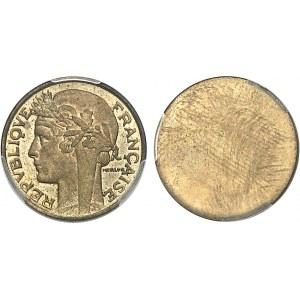 IIIe République (1870-1940). Paire d'épreuves unifaces, avers et revers, de 50 centimes Morlon 1932, Paris.
