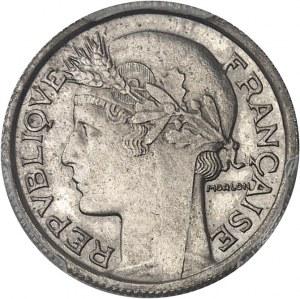 IIIe République (1870-1940). Essai de 50 centimes Morlon en nickel, tranche striée 1939, Paris.