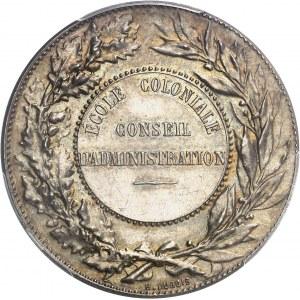 IIIe République (1870-1940). Jeton du Conseil d'administration de l'École coloniale ND (après 1880), Paris.
