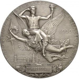 IIIe République (1870-1940). Médaille d'argent, Exposition Universelle de Paris par J. C. Chaplain, attribuée au Dr Mareschal 1900, Paris.