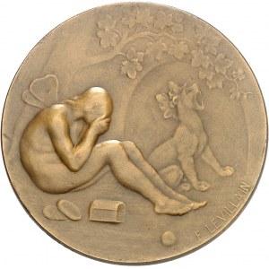 IIIe République (1870-1940). Médaille, Junon et Psyché par Fernand Levillain, SAMF n° 133 1899, Paris.