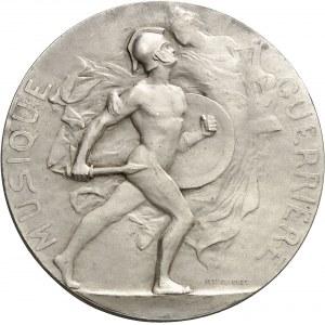 IIIe République (1870-1940). Médaille, la Musique guerrière par Paul Niclausse, SAMF n° 56 1900, Paris.