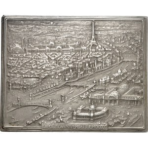 IIIe République (1870-1940). Médaille, Souvenir de l'Exposition Universelle par Jules-Édouard Roiné, SAMF n° 222 1900, Paris.