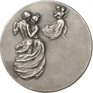 IIIe République (1870-1940). Médaille, La danse ou Tour de valse par Rupper Carabin, SAMF n° 33 1901, Paris.