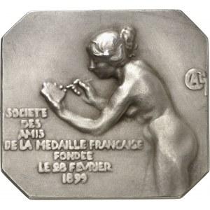 IIIe République (1870-1940). Médaille, La Société des Amis de la Médaille Française par Alexandre Charpentier, SAMF n° 19 1901, Paris.