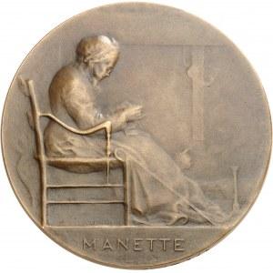 IIIe République (1870-1940). Médaille, Les deux âges de la vie par Ovide Yencesse, SAMF n° 245 1901, Paris.