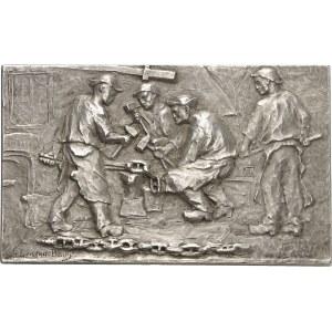 IIIe République (1870-1940). Médaille, les Forgerons par Gustave Loiseau-Bailly, SAMF n° 22 1903, Paris.