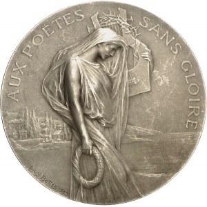 IIIe République (1870-1940). Médaille, aux poëtes sans gloire par Louis Bottée, SAMF n° 60 1905, Paris.