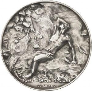IIIe République (1870-1940). Médaille, les mineurs et le coup de grisou par Henri Greber, SAMF n° 24 1906, Paris.
