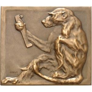 IIIe République (1870-1940). Médaille, Le singe à la statuette par Paul Jouve, SAMF n° 127 1906, Paris.