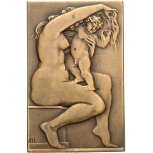 IIIe République (1870-1940). Médaille, Caresse maternelle et jeux d'enfants par Albert Marque, SAMF n° 99 1907, Paris.