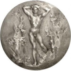 IIIe République (1870-1940). Médaille, Adolescents par Louis Dejean, SAMF n° 14 1907, Paris.