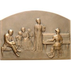 IIIe République (1870-1940). Médaille, la Musique par Fernand David, SAMF n° 74 1908, Paris.