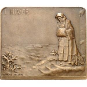 IIIe République (1870-1940). Médaille, Printemps et Hiver par Hippolyte Lefebvre, SAMF n° 106 1909, Paris.