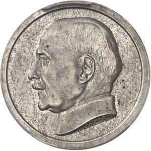 État Français (1940-1944). Essai-piéfort de 50 centimes Pétain en argent ND (1941), Paris.