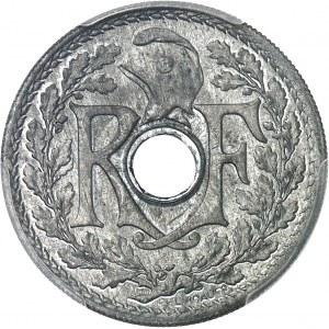État Français (1940-1944). Pré-série sans le mot ESSAI de 25 centimes Lindauer en zinc, date avec points 1940, Paris.