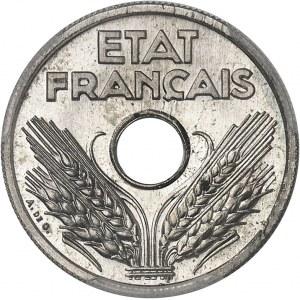 État Français (1940-1944). Essai de 10 centimes grand module en maillechort 1941, Paris.
