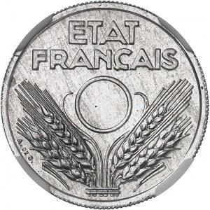 État Français (1940-1944). Essai de 10 centimes Lindauer en aluminium, non perforé 1941, Paris.