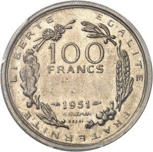 IVe République (1947-1958). Essai de 100 francs grand module par Guzman, 2e type 1951, Paris.