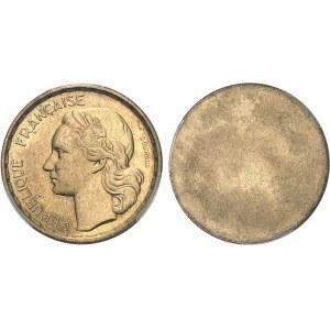 IVe République (1947-1958). Paire d'épreuves unifaces, avers et revers, de 50 francs Guiraud 1951, Paris.