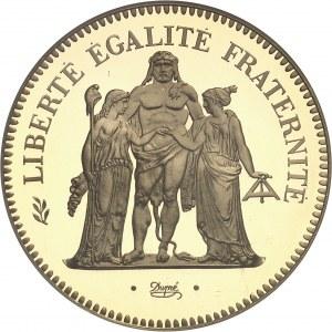 Ve République (1958 à nos jours). Piéfort de 50 francs Hercule, Flan bruni (PROOF) 1976, Pessac.