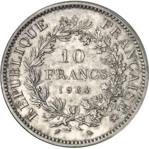 Ve République (1958 à nos jours). Pré-série de 10 francs Hercule, sans le mot ESSAI 1964, Paris.