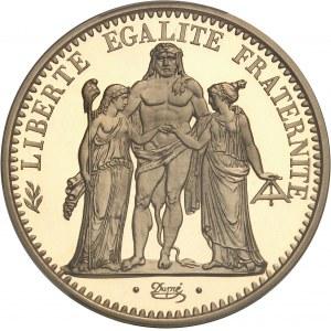 Ve République (1958 à nos jours). Piéfort de 10 francs Hercule, Flan bruni (PROOF) 1972, Paris.
