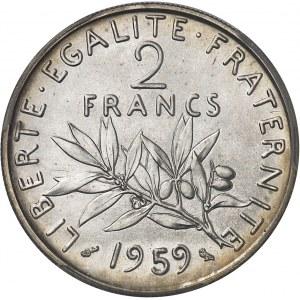 Ve République (1958 à nos jours). Essai de 2 francs Semeuse 1959, Paris.