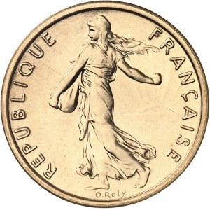 Ve République (1958 à nos jours). Piéfort de 1/2 franc Semeuse, Flan bruni (PROOF) 1972, Paris.