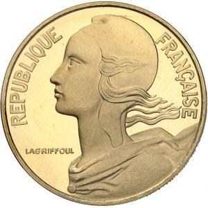 Ve République (1958 à nos jours). Piéfort de 20 centimes Marianne, Flan bruni (PROOF) 1980, Pessac.