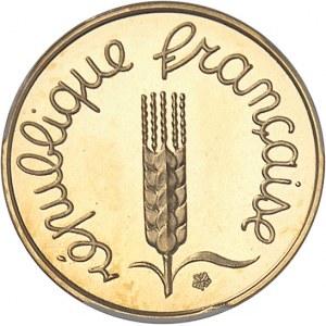 Ve République (1958 à nos jours). Piéfort de 1 centime Épi en Or 1973, Paris.